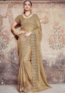 Gold Bridal Saree_8