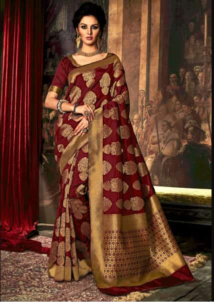 8070a5e26929 10 Stunning Bridal Saree Colors Apart From Red - TBG Bridal Store