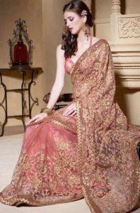Pink Bridal Saree_1