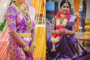 Purple Bridal Saree_6