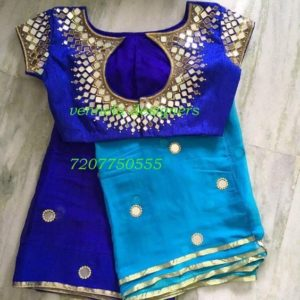 Mirror work designer blouse