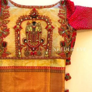 Devotional saree blouse
