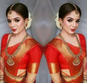 Maroon color bridal blouse design