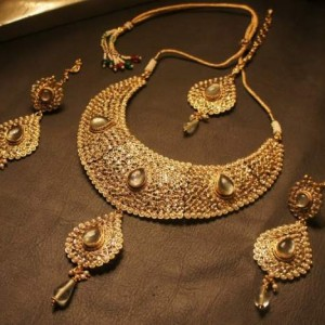 bridal gold plated jewellery