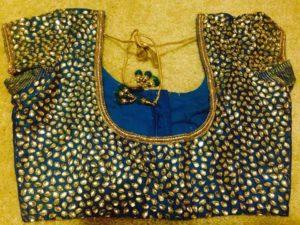 kundan work blouse design