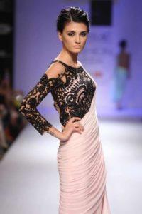 lace work blouse design