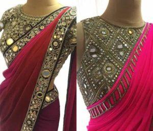 mirror work blouse design