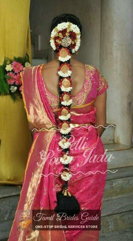 poo jadai bridal images