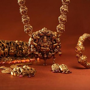 bridal imitation temple jewellery