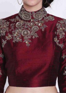 zardosi work blouse design