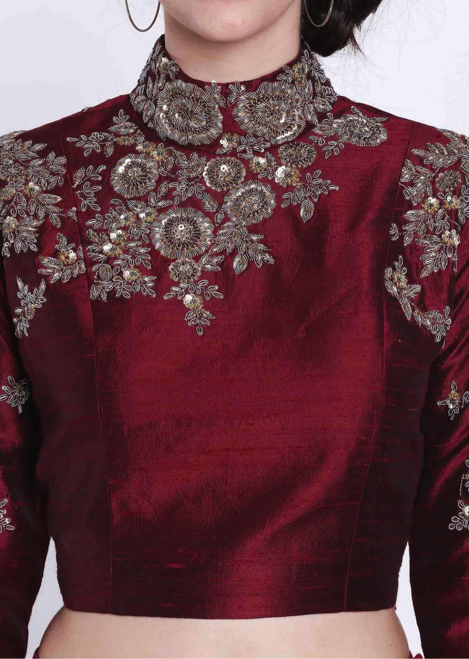 zardosi work blouse design