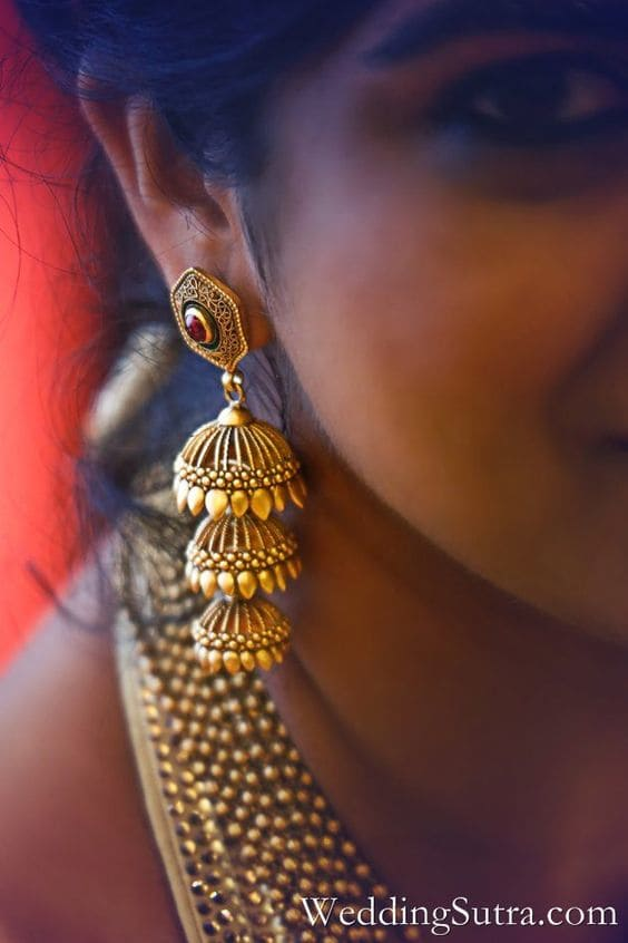 3 steps matte finish jhumka designs