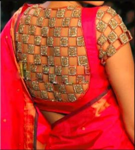 Cutwork and Maggam Work Combination Design
