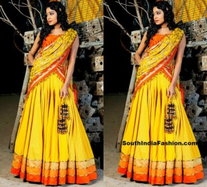 half_saree_yellow