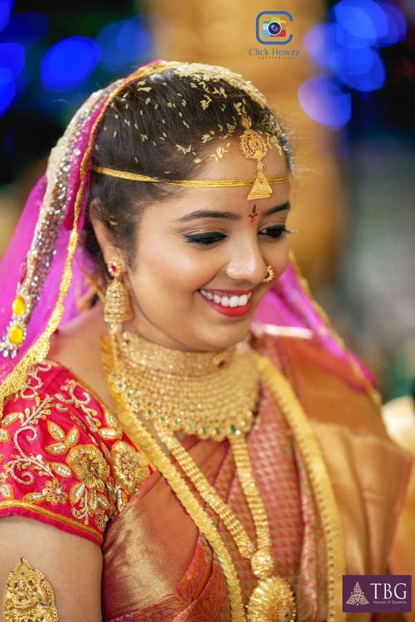 south indian bride look