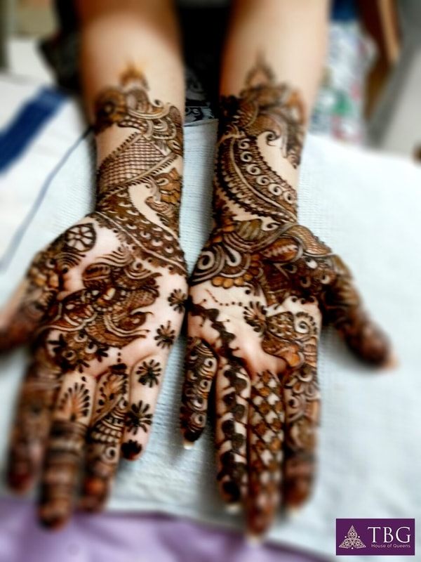 mehendi designs for south indian brides