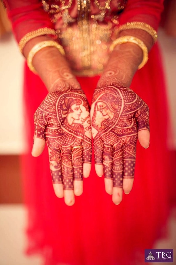 south indian bridal mehendi design