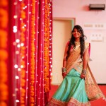 bridal lehengas and hairstyles