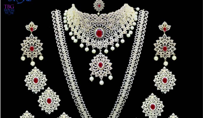 08f74b0b9 American Diamond Jewellery Sets for Rent