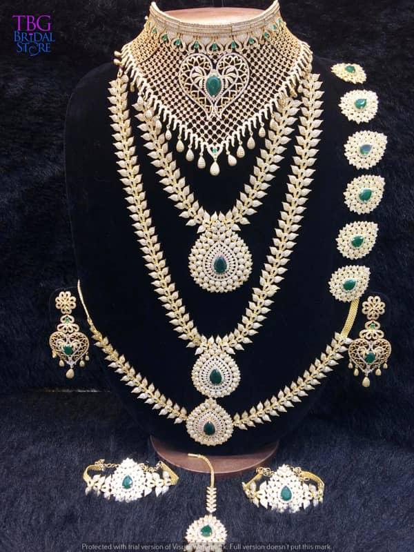 b892ab083 American Diamond Jewellery Sets for Rent, Diamond Jewellery Rental - TBG