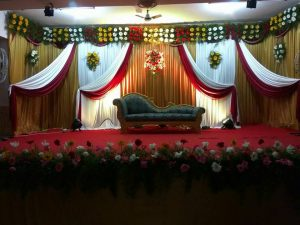 Drapes and Orchid Decoration 1