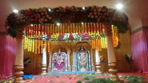 Temple Flowers Decoration with Lights 2