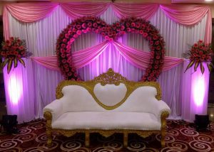 elegant flower stage decoration 2