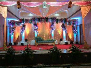 fabric draping and pillar decoration 2