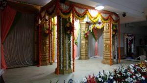 fabric draping and pillar decoration 3