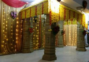 traditional floral mandap decoration 1