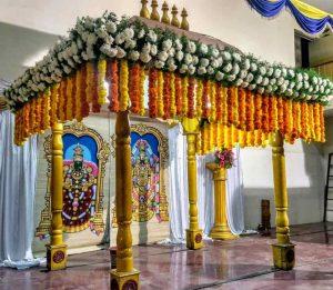 traditional floral mandap decoration 6