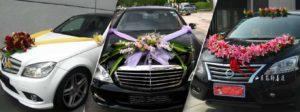 wedding car decoration - tbg bridal store