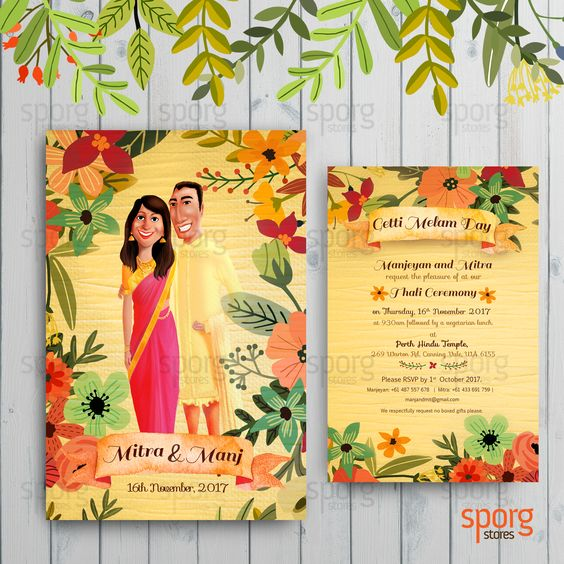 Instagram Styled Wedding Invitation