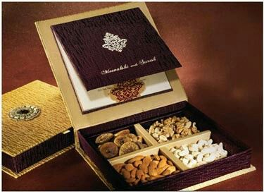 Dry fruits Box wedding Invitation