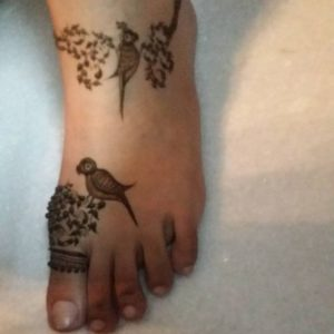 parrot Mehendi Design for Legs