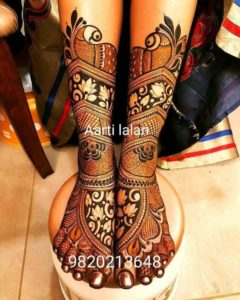 lotus Mehendi Design for Legs