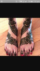 Lace Mehendi Designs for Feet