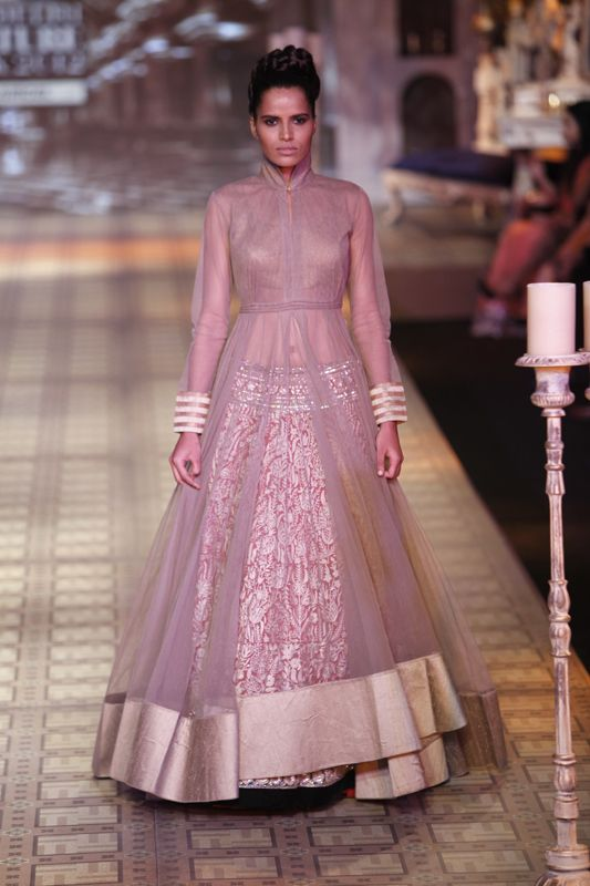Cover it up with Sheer fabric and Reuse Lehenga
