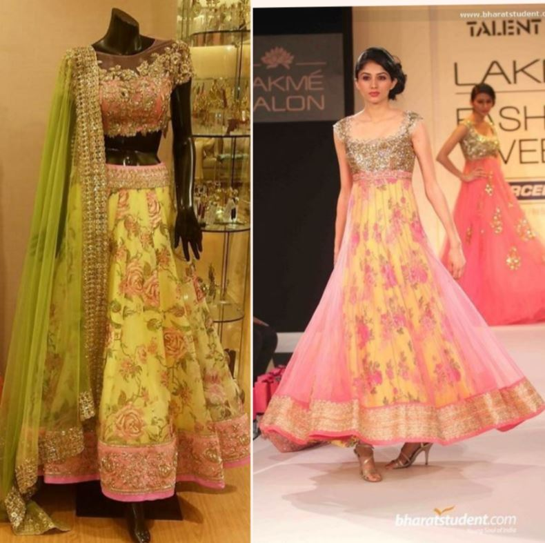 covert lehenga to Anarkali