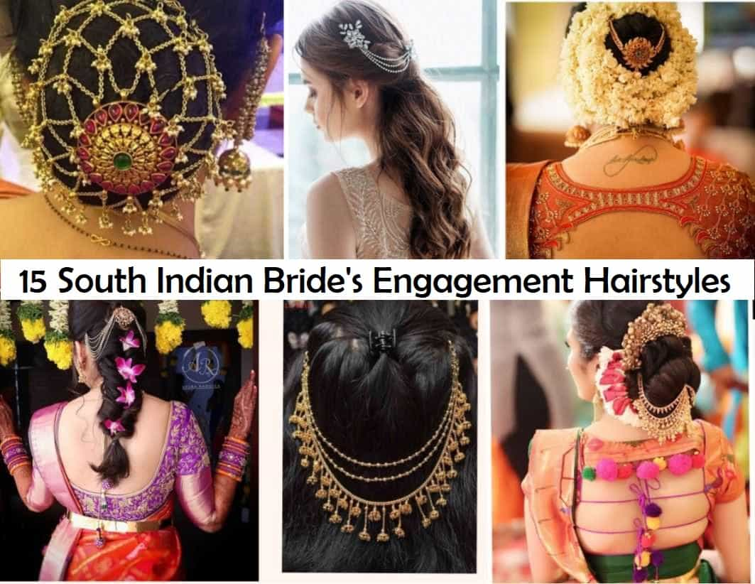 aabbd8d7a2646 15 Popular South Indian Bridal Hairstyles for Engagement - TBG ...