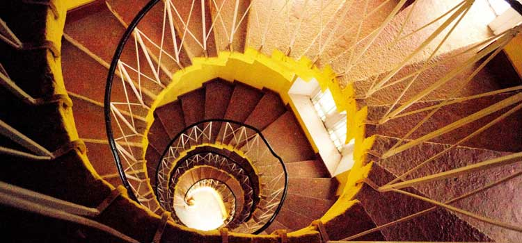 Bangalore Palace inside Staircase