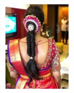Simple braided hairstyle for engagement