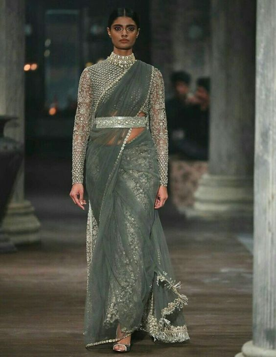 Reuse Lehenga under saree