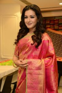 Catherin Theresa in saree