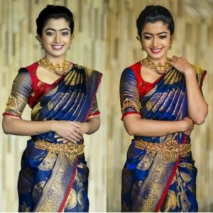 Rashmika in saree