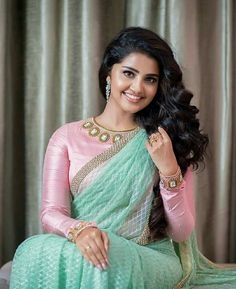 Anupama Parameswaran in saree