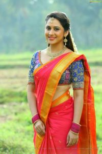 Miya george in saree