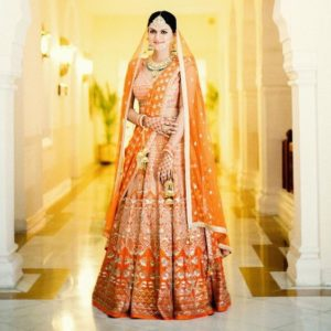 Bridal Lehenga Orange Color