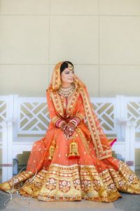 Bridal Lehenga Orange Color