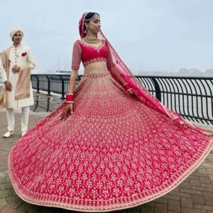 Bridal Lehenga Pink Color